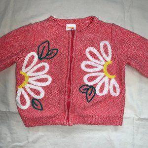 GYMBOREE Pink w/ Daisy's Zip-Up Sweater.